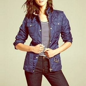 Banana Republic Navy Quilted Field Jacket Size XS